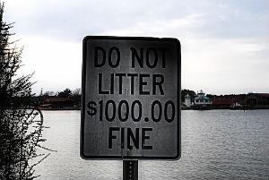 $1,000 Littering Fine