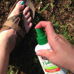 Gotta spray everywhere... even the toes!
