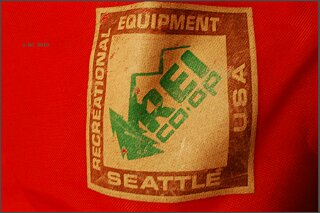 Early REI product tag.